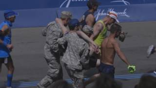 Download Sights and sounds of the 2017 Boston Marathon finish line Video