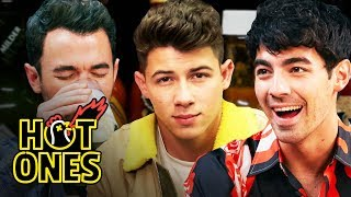Download The Jonas Brothers Burn Up While Eating Spicy Wings | Hot Ones Video