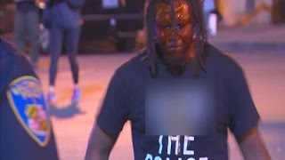 Download Man pepper sprayed after daring police to arrest him in Baltimore Video
