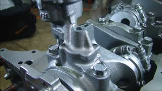 Download Engine Building Part 4 - Installing the Oil Pump and Setting the Pickup Depth Small Block Chevy 350 Video