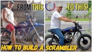 Download We built a Honda Scrambler motorbike! Davao PHILIPPINES Video