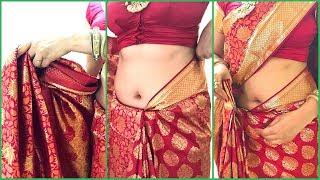 Download How To Wear Saree For Wedding | How To Drape South Indian Bridal Saree Perfectly | Kanjivaram Video