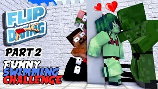 Download MONSTER SCHOOL : FUNNY SWIMMING CHALLENGE PART 2 (BOYS REVENGE) - BEST MINECRAFT ANIMATION Video