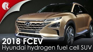 Download Hyundai hydrogen fuel cell SUV 2018 revealed;featuring a driving range of about 800 kilometres. Video