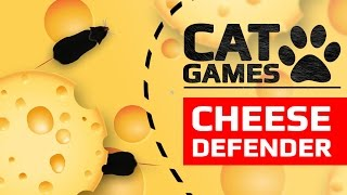 Download CAT GAMES - CHEESE DEFENDER (ENTERTAINMENT VIDEOS FOR CATS TO WATCH) Video
