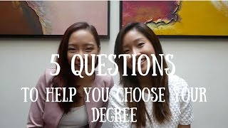 Download 5 Questions to Help You Choose Your Degree Video
