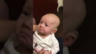 Download My baby hears me for the first time and is almost moved to tears! Video
