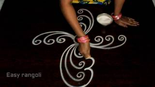 Download easy free hand rangoli designs || free hand simple kolam designs || freehand muggulu designs Video