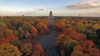 Download Farbenfroher Herbst - Leipzig aus der Luft Video