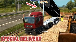 Download ETS2 SPECIAL DELIVERY: MAN TGA + Tipper Trailer mod (Euro Truck Simulator 2) Video