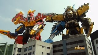 Download Power Rangers Dino Charge - Race to Rescue Christmas - Megazord Fight Video