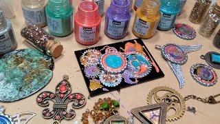 Download Mixed Media Jewelry Workshop with Pebeo Fantasy Special Effects Paint Video
