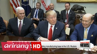 Download Trump welcomes Samsung's possible plan to build new plant in U.S. Video