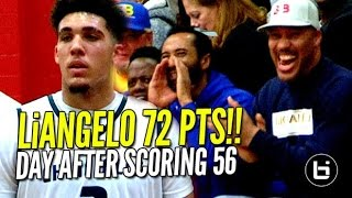 Download LiAngelo Ball Scores 72 POINTS Day AFTER Scoring 56!! Chino HIlls vs R.Christian FULL Highlights! Video