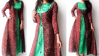Download DIY Designer Double Layer Kurti Cutting And Stitching Tutorial Video