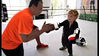 Download Mini Jake Paul TRAINS For Deji Video