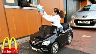 Download Bad Kids Driving Power Wheels Ride On Car - McDonalds Drive Thru Prank! Video