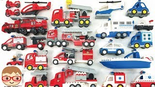 Download Emergency Vehicles for kids | Police Car, Fire Truck, Ambulance for children | toy car assembly Video