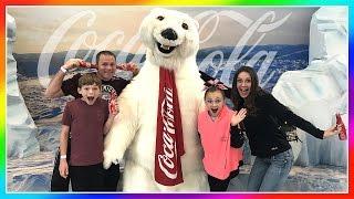 Download WE MEET THE COCA COLA POLAR BEAR! | THE WORLD OF COCA COLA | We Are The Davises Video
