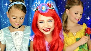 Download Disney Princess Makeup Compilation! Cinderella, Belle, and Ariel Makeup! Video