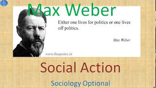 Download Max Weber Theory of Social Action Sociology Optional UPSC CSE Video