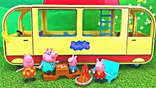 Download Peppa Pig's Transforming Camper Van Camping Adventure Toy Surprise Video