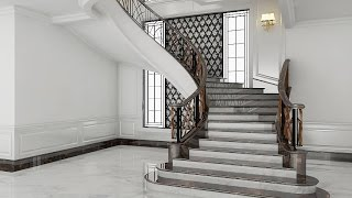 Download Sketchup Stairs Interior Build + Vray Render Video