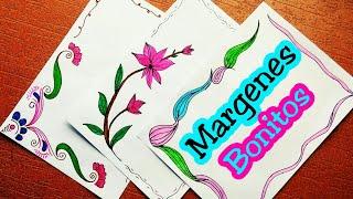 Download Margenes para cuadernos   margenes bonitos   marcos para cuadernos   como hacer margenes bonitos Video