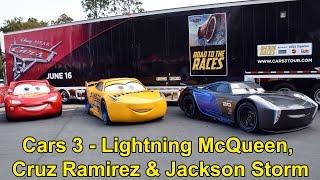 Download Lightning McQueen, Cruz Ramirez & Jackson Storm From Disney Pixar Cars 3 Appear at Walt Disney World Video