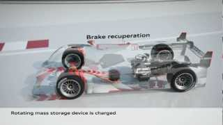 Download Winning Audi R18 e-tron quattro technology explained in a lap of LeMans in animation Video