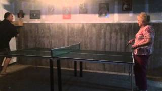 Download Teaching Grandma to play ping pong gone wrong Video