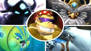 Download Donkey Kong Country Tropical Freeze - All Bosses with Funky Kong (No Damage) Video