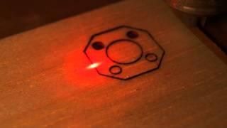 Download Low cost CNC cuts balsa using DVD laser Video