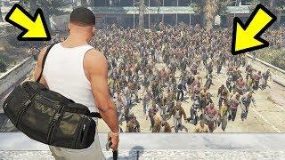 Download GTA 5 - The BIGGEST Zombie Hoard EVER!! (Zombie Apocalypse) Video