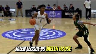 Download Jalen Lecque vs Jaelen House! Top PGs Collide at EYBL Indianapolis Video