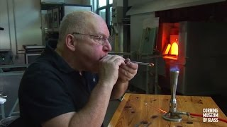 Download Making Glass Tubes with a Bubble on the End Video