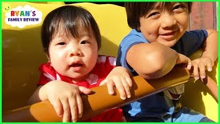 Download Twin Babies first time at Disney and going on Amusement Rides Video