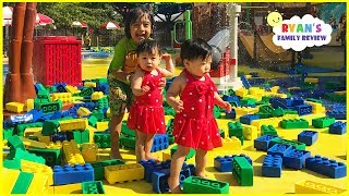 Download GIANT LEGO at LegoLand Discovery Kids Indoor Playground with Ryan's Family Review Video