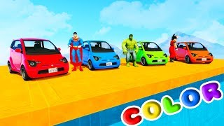 Download FUN LEARN COLORS COMPACT CARS w/ SUPERHEROES For Kids 3D Animation for Babies Video