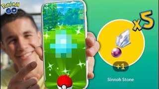 Download A NEW SHINY + GUARANTEED SINNOH STONES in Pokémon GO! Video