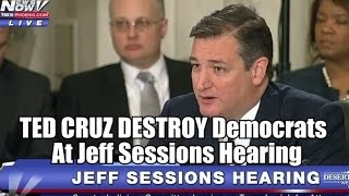Download VIDEO: TED CRUZ DESTROY Democrats At Jeff Sessions Hearing Video