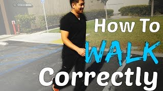 Download Physical Therapist Shows How To Walk Correctly Video