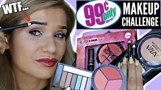 Download FULL FACE Using ONLY 99 CENTS STORE MAKEUP Challenge! Video