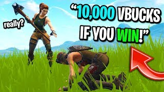Download I gave a 10 year old kid 10,000 vbucks for CARRYING me to a win on Fortnite... Video