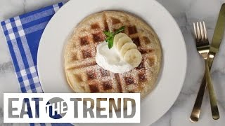 Download How to Make One-Ingredient Puff Pastry Waffles | Eat the Trend Video