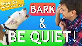 Download How to Teach your Dog to Bark and STOP BARKING! Video