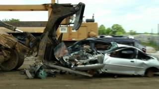 Download Engine Biter and Car Crusher in Junkyard Video