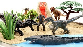Download DIY VOLCANO ERUPTION. Jurassic World2 Fallen Kingdom Dinosaurs - Indoraptor VS Blue Toys For Kids Video