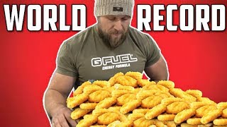 Download Most Chicken Nuggets Eaten in 3 Minutes (NEW World Record) Video