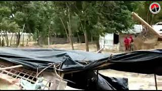 Download Tropical rain and cyclone destroy Rohingya new settlement camps in Bangladesh today, May 14, 2018 Video